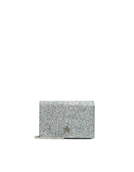 Glitter bag with star detail