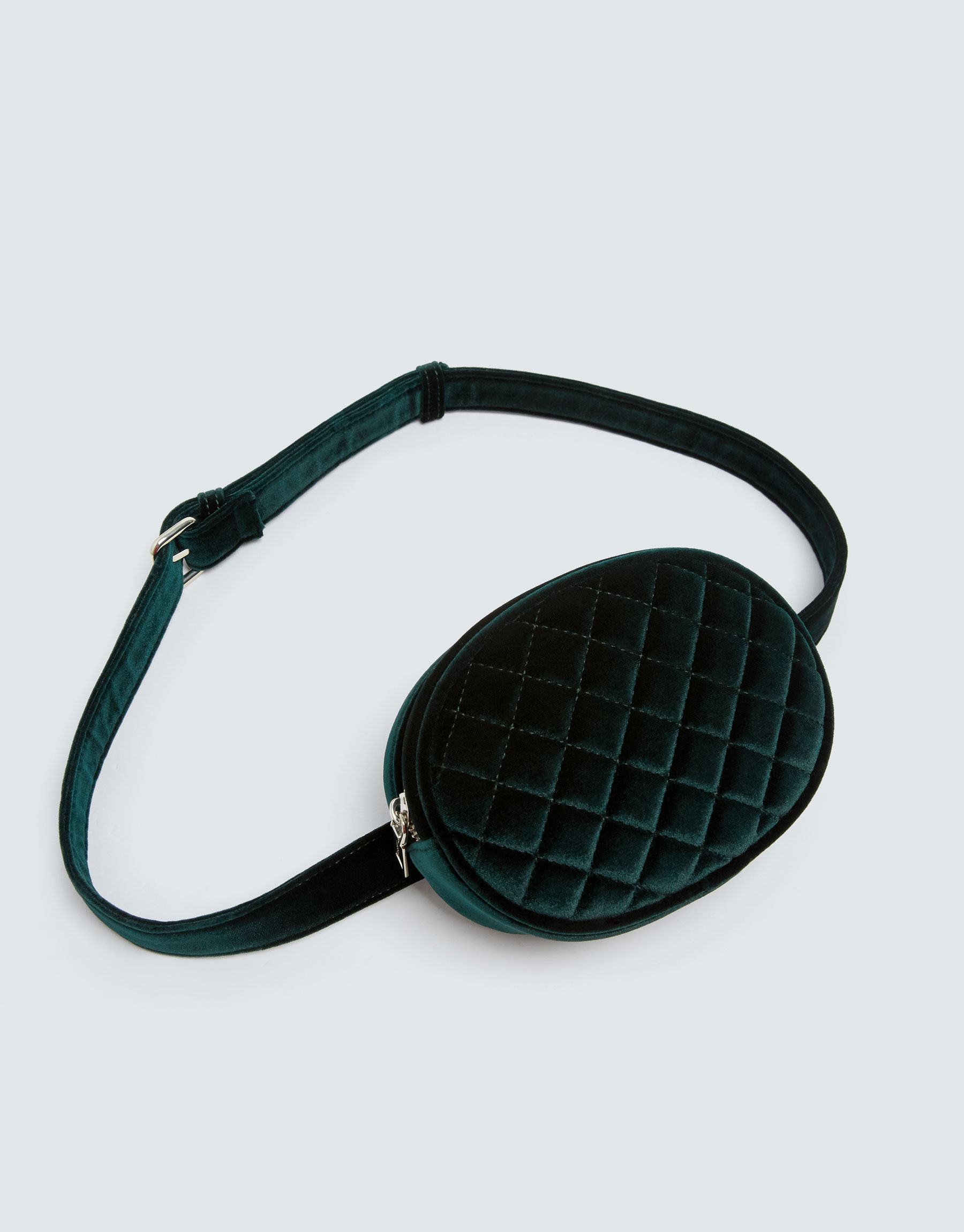 685f463bd261 Pull & Bear Green velvet quilted belt bag at £12.99 | love the brands