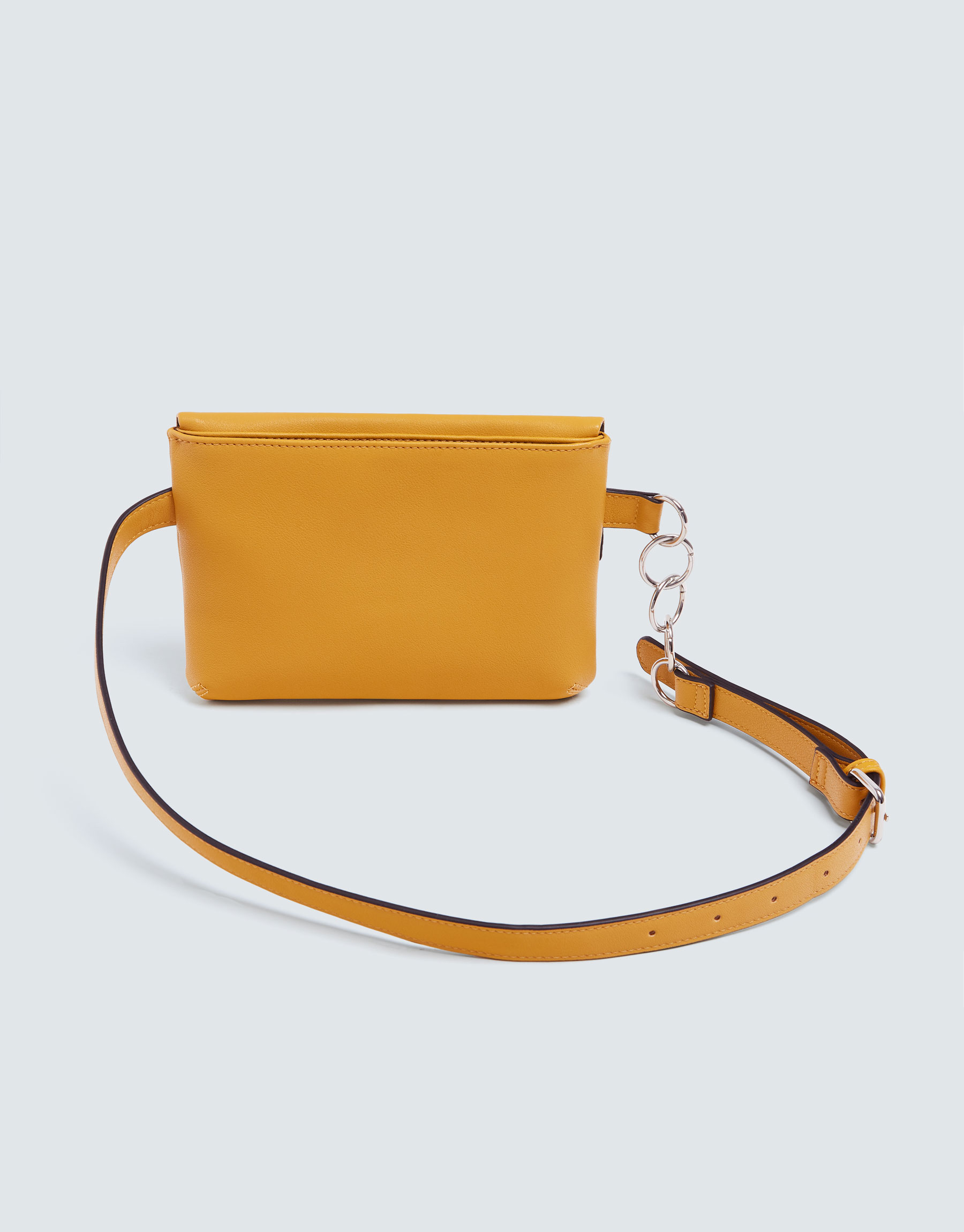 5d4479c4f79c Pull & Bear Mustard yellow belt bag with chain detail at £15.99 ...