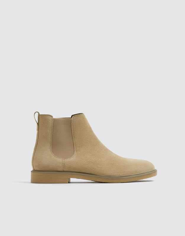 Bottines Beiges Similicuir Bande élastique by Pull & Bear
