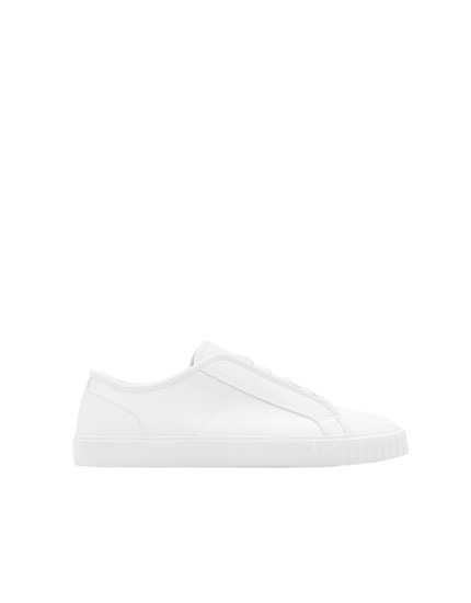 All-white sneakers