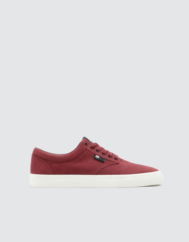 Basic Burgundy Teen Trainers by Pull & Bear