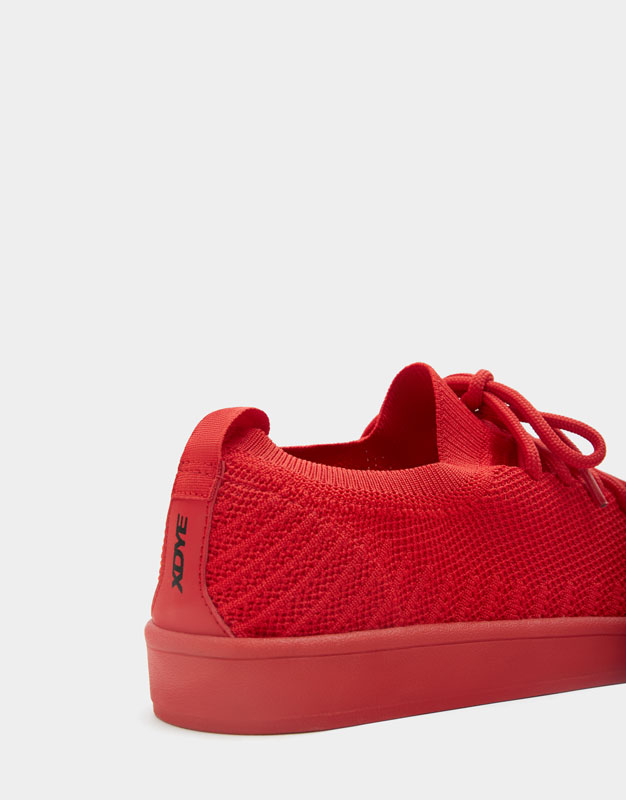 Pull & Bear - Red knit fabric trainers - 5