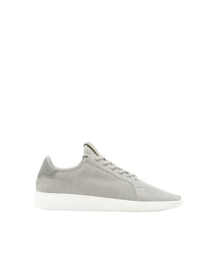 Grey fabric sneakers