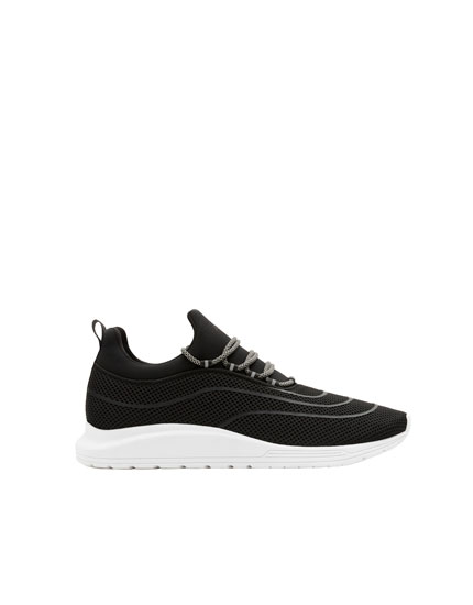 Black XDYE transfer trainers