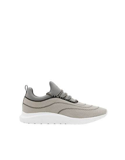 Grey XDYE transfer trainers