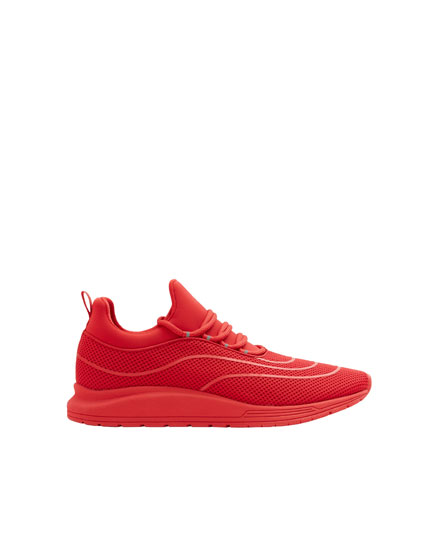 Red XDYE transfer trainers