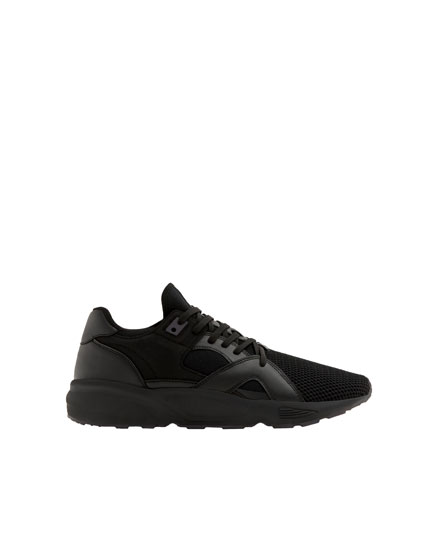 Zwarte sneaker in cold black