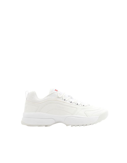 XDYE white sole trainers