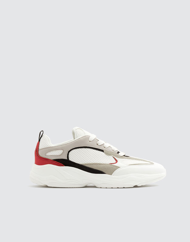 White Trainers With Thick Soles by Pull & Bear