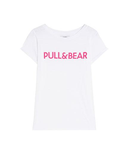 Camiseta logo Pull&Bear