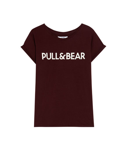 T-Shirt mit Pull&Bear-Logo