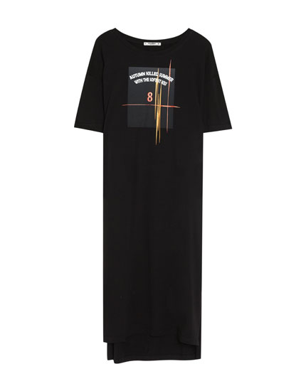 T-shirt dress with front print