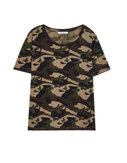 Short sleeve camouflage T-shirt
