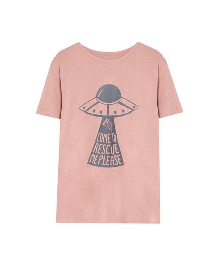 Camiseta ilustración manga corta