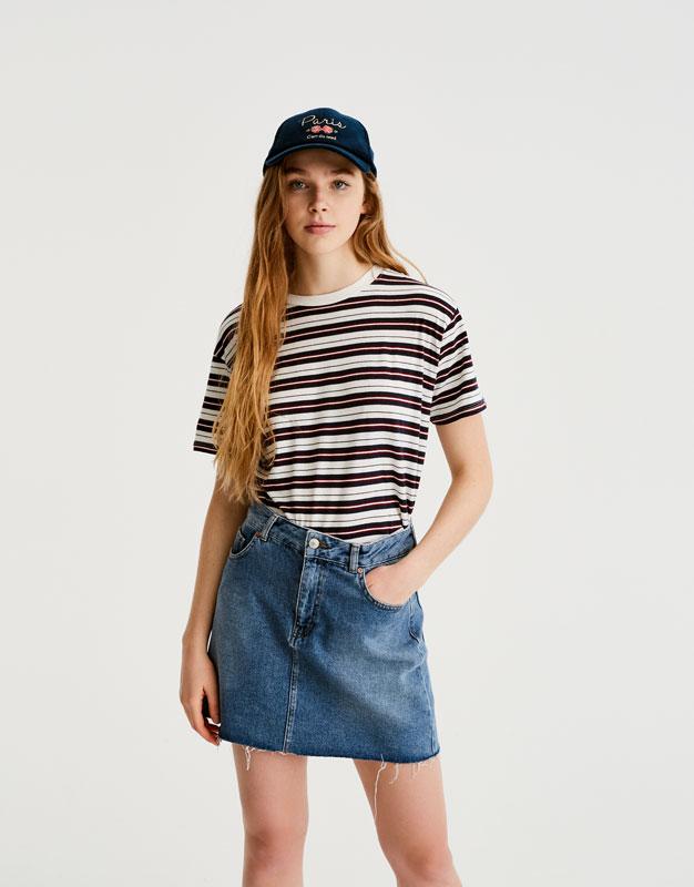 Short sleeve striped T-shirt