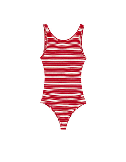 Basic striped bodysuit
