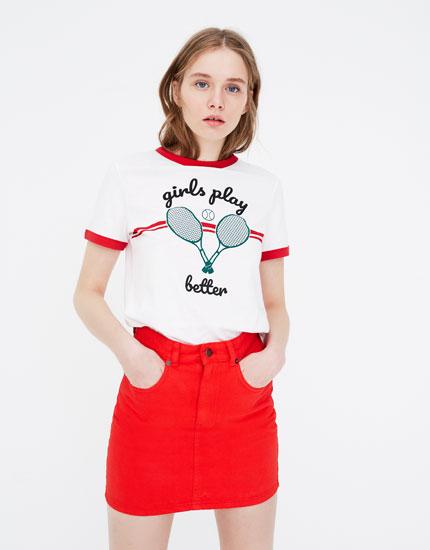 Short sleeve skates T-shirt