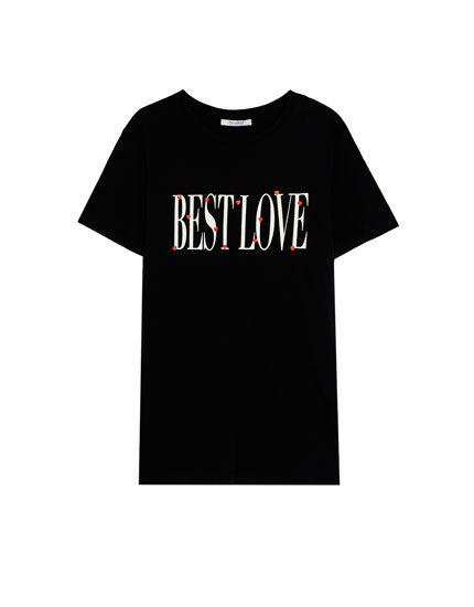 Tricou cu text Best Love