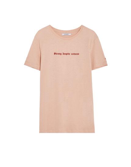 Camiseta texto Strong