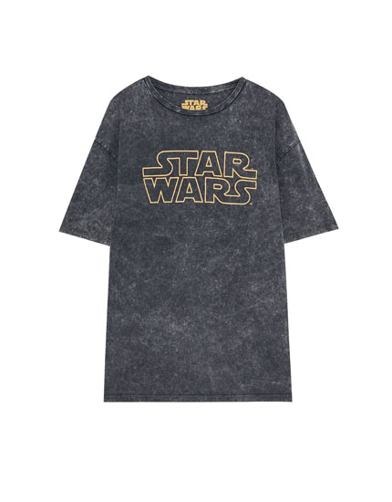 Star Wars logo print T-shirt
