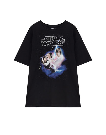 Star Wars poster print T-shirt