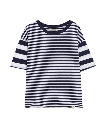 T-shirt rayures mixtes