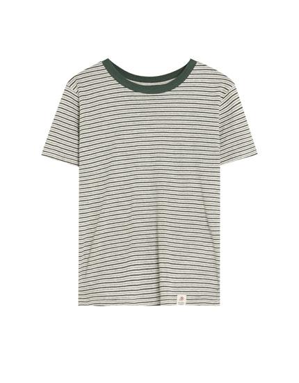 Stribet t-shirt