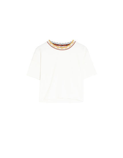 T-shirt with embellished detail