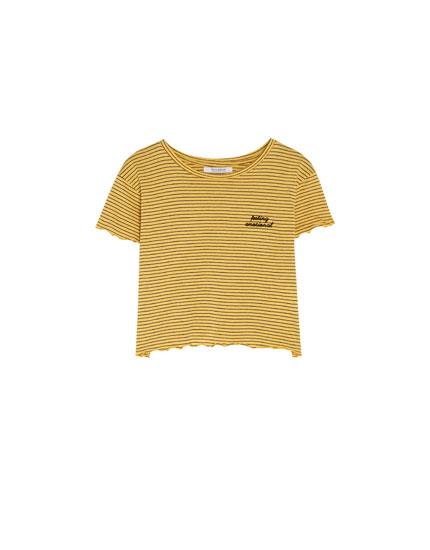 T-shirt à manches courtes brodé