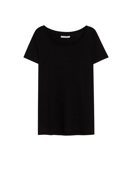 Basic scoop neck T-shirt