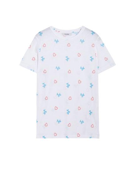 T-shirt à manches courtes ballons