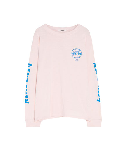 "Long sleeve ""Real easy"" T-shirt"