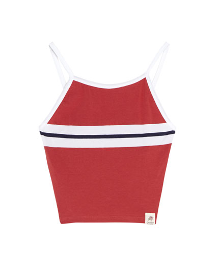 Red striped tank top