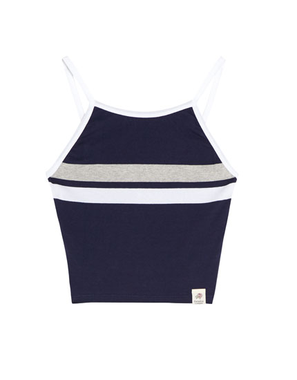 Navy blue striped tank top