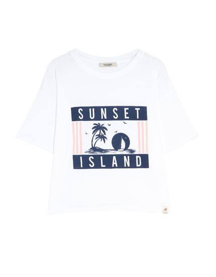 "Short sleeve ""Sunset Island"" T-shirt"