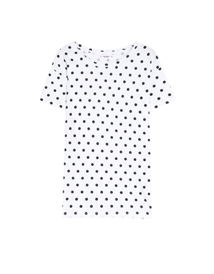 All-over polka dot T-shirt