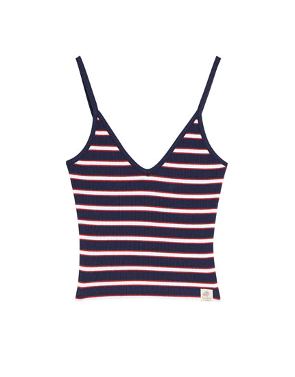 Nautical striped tank top