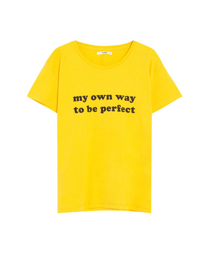 Camiseta manga corta mensaje