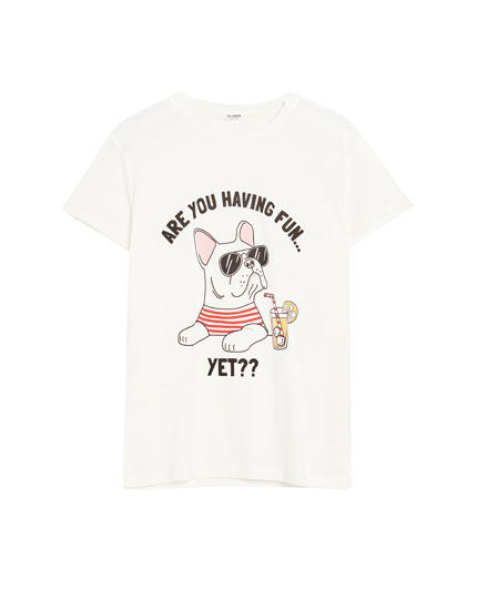 T-shirt with illustration