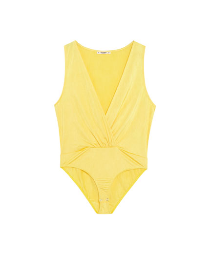 Yellow crossover bodysuit