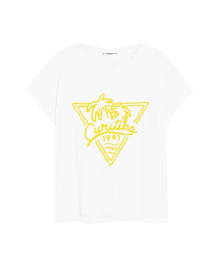 T-shirt met raglanmouw en afbeelding