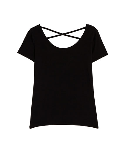 Basic gathered T-shirt