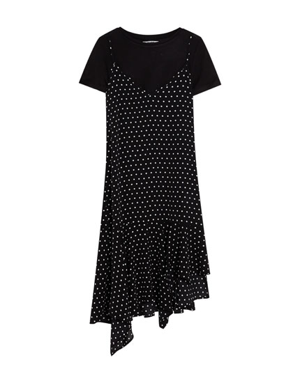 Midi dress with T-shirt included