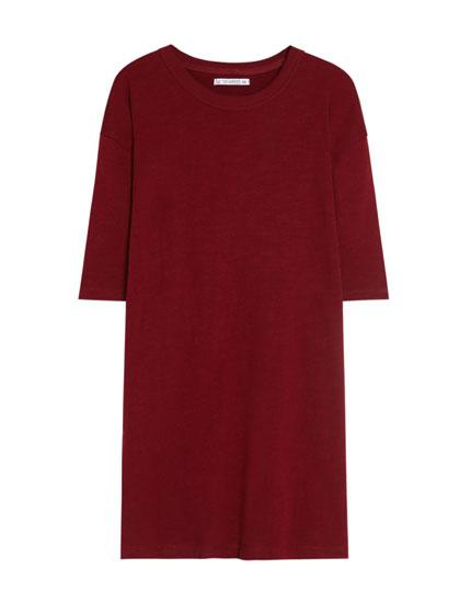 Short sleeve loose-fit dress
