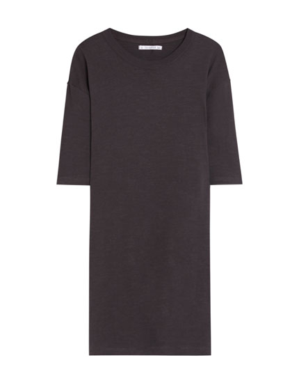 Short sleeve loose-fit dress