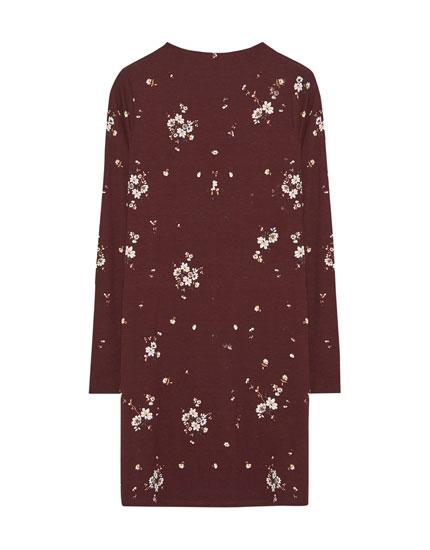 Long sleeve printed dress