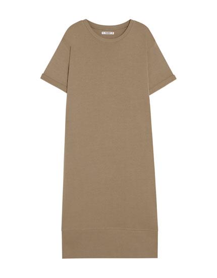 Φόρεμα κοντομάνικο σε στυλ μπλούζας