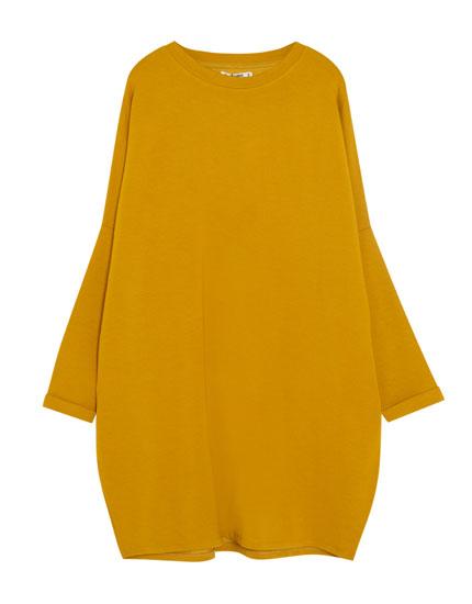 Long sleeve cocoon dress