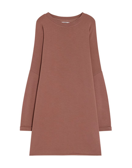 Long sleeve cocoon dress